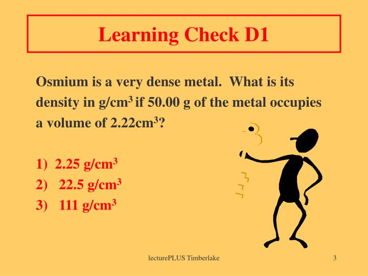 Learning check d1
