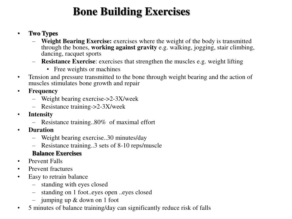 Bone Building Exercises