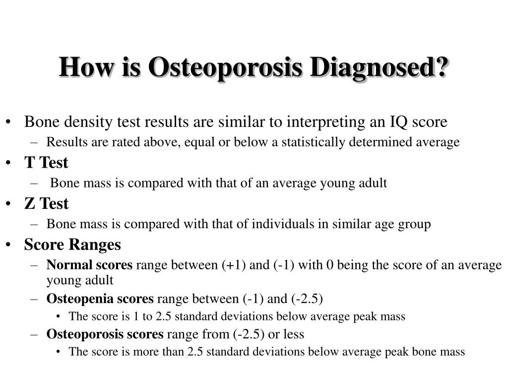 How is Osteoporosis Diagnosed?
