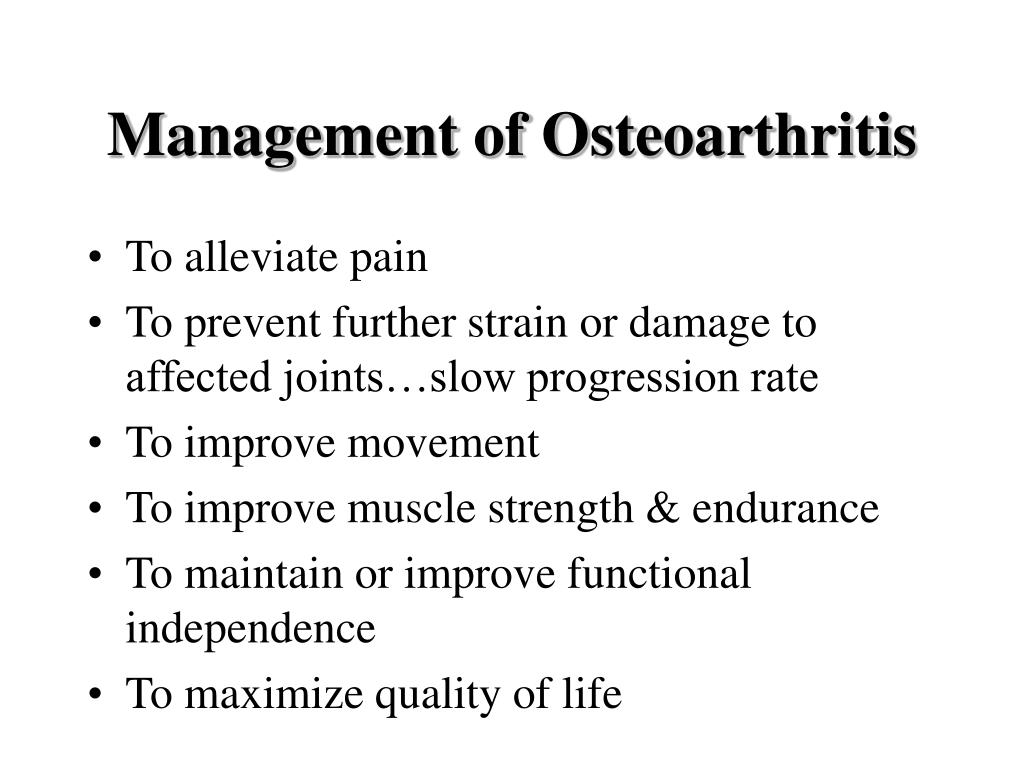 Management of Osteoarthritis