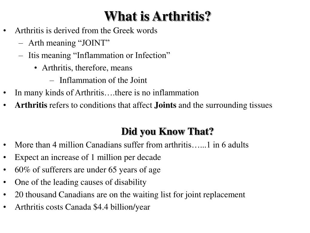 What is Arthritis?