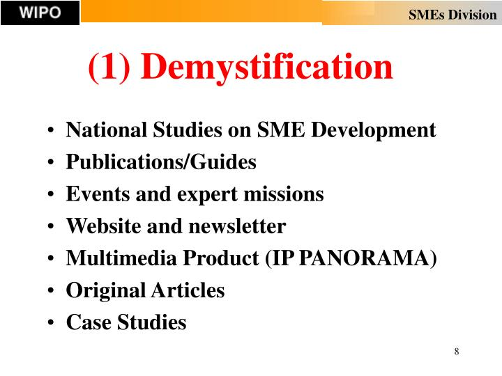 (1) Demystification