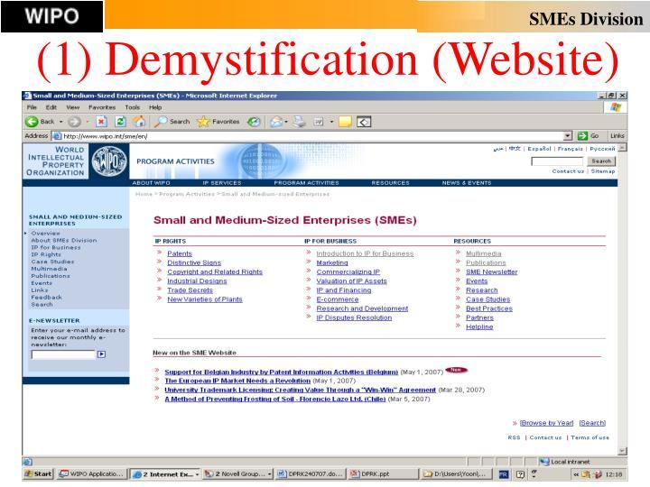 (1) Demystification (Website)