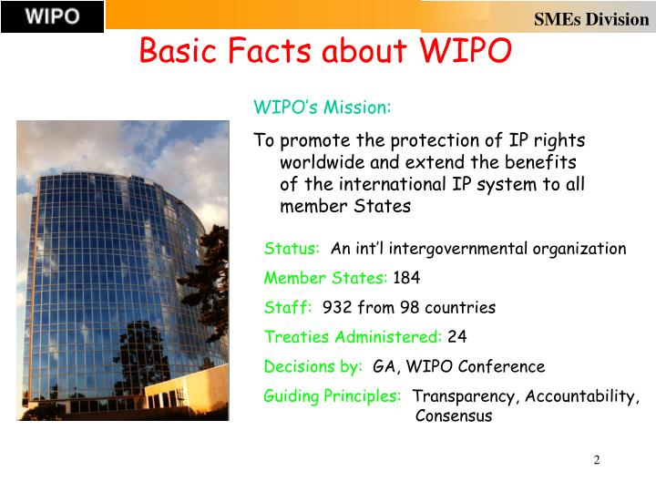Basic Facts about WIPO