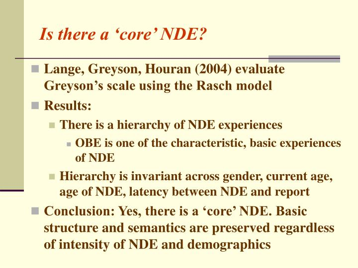 Is there a 'core' NDE?