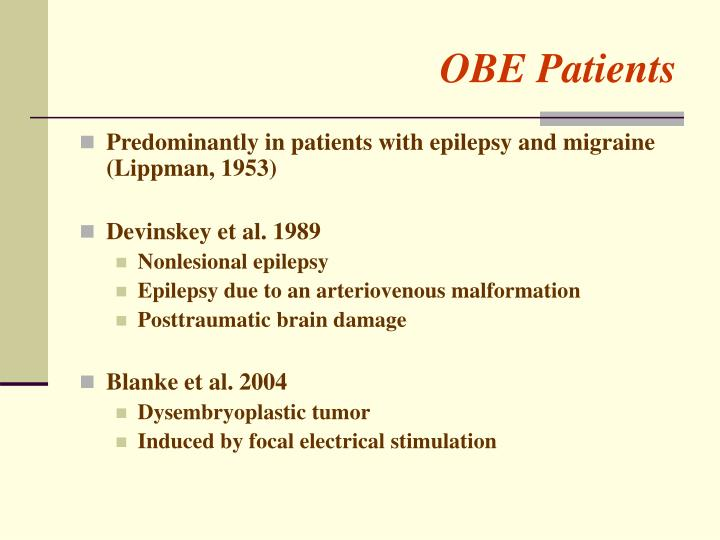 OBE Patients