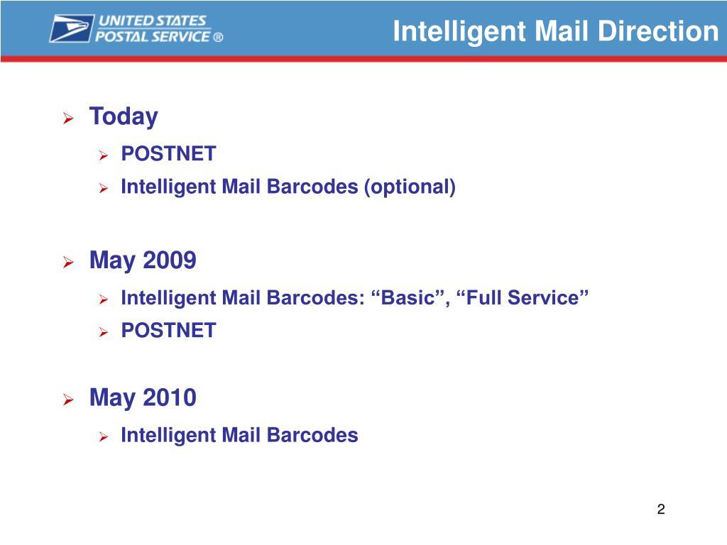 Intelligent Mail Direction