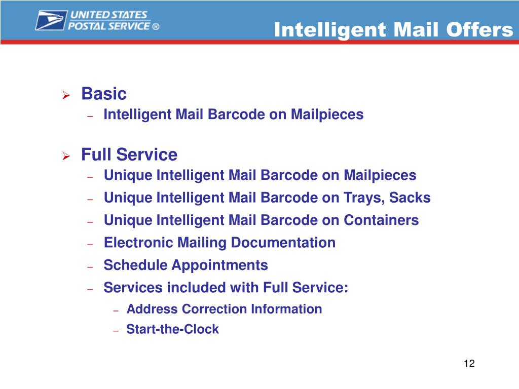 Intelligent Mail Offers