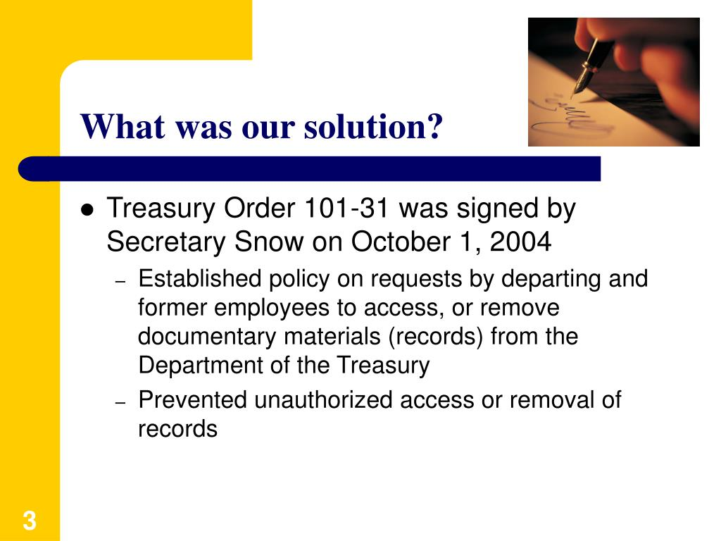 What was our solution?