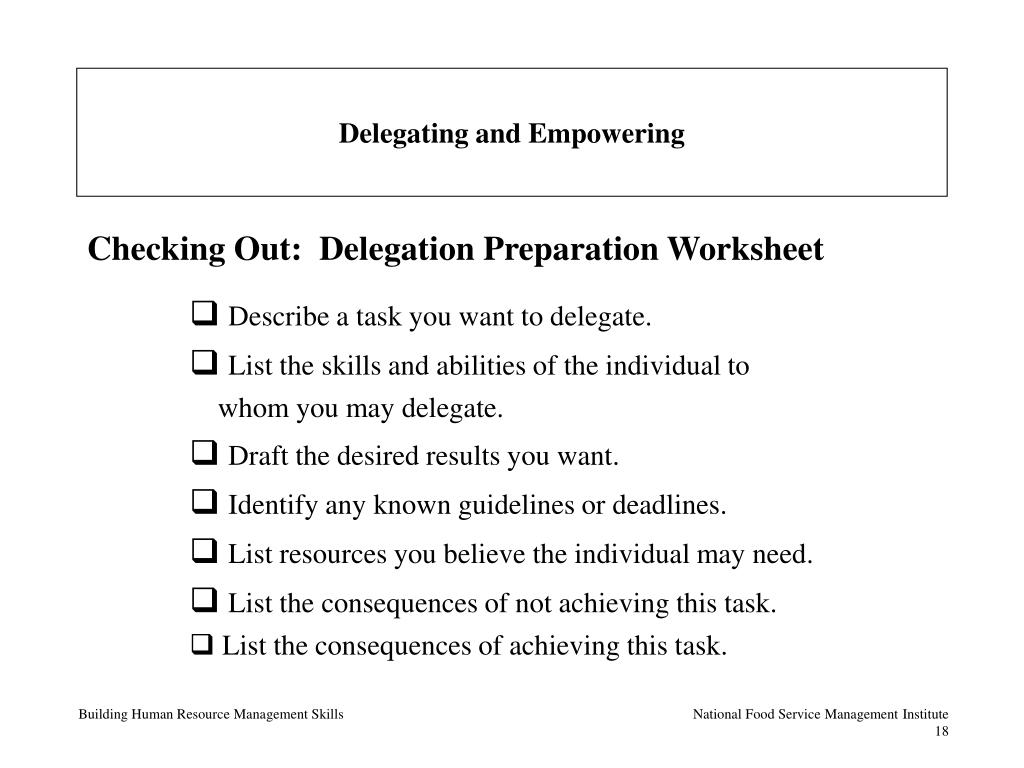 Delegating and Empowering