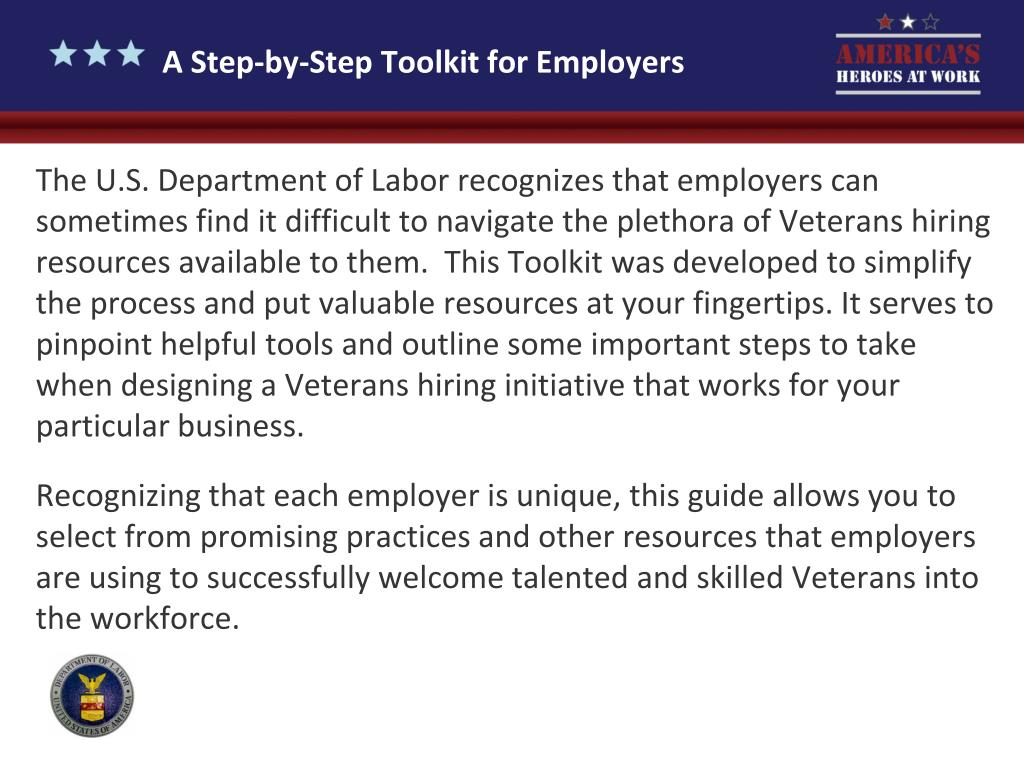 A Step-by-Step Toolkit for Employers