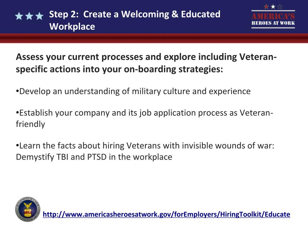 Step 2:  Create a Welcoming & Educated