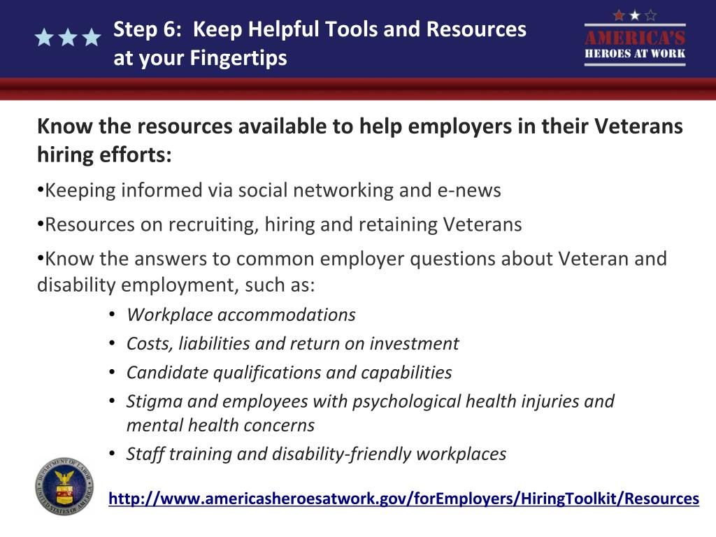 Step 6:  Keep Helpful Tools and Resources at your Fingertips
