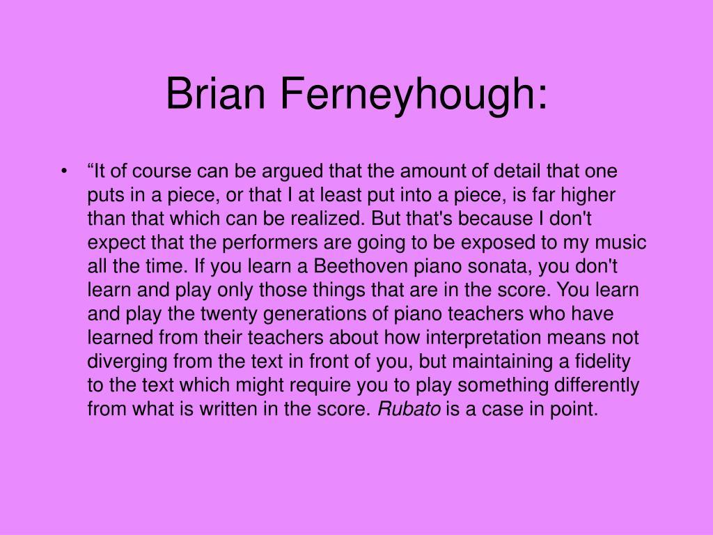 Brian Ferneyhough:
