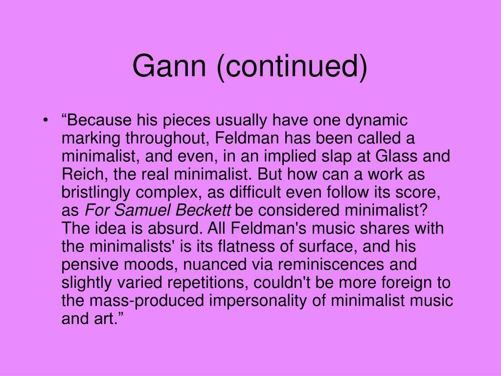 Gann (continued)