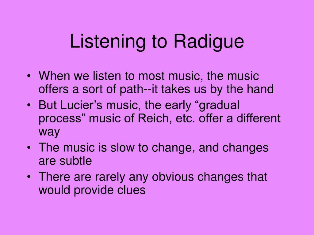 Listening to Radigue