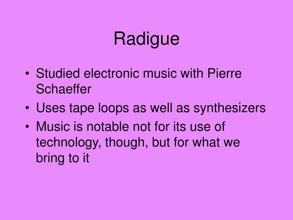 Radigue