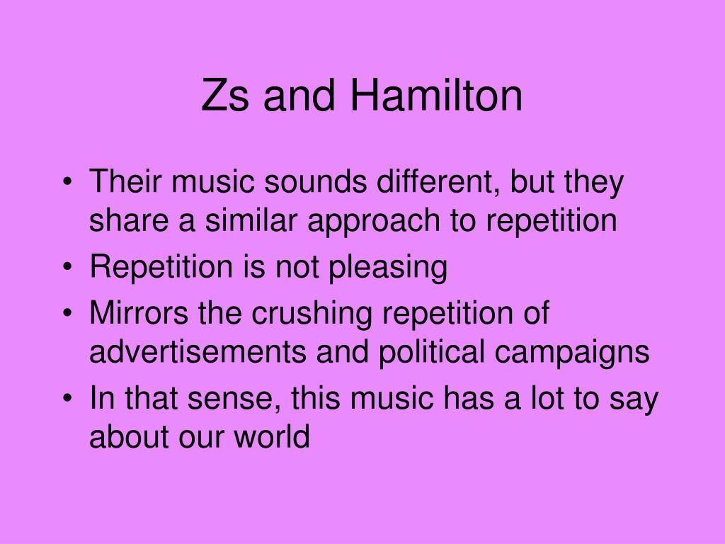 Zs and Hamilton