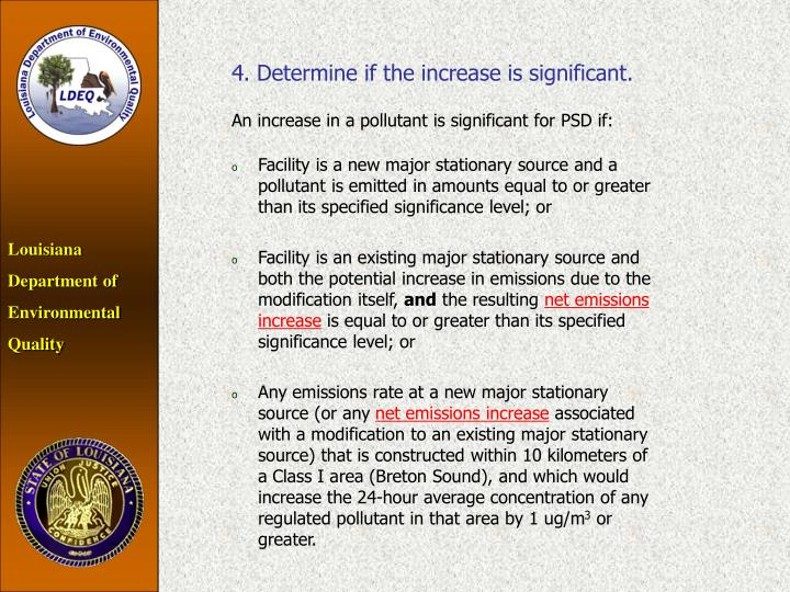 4. Determine if the increase is significant.