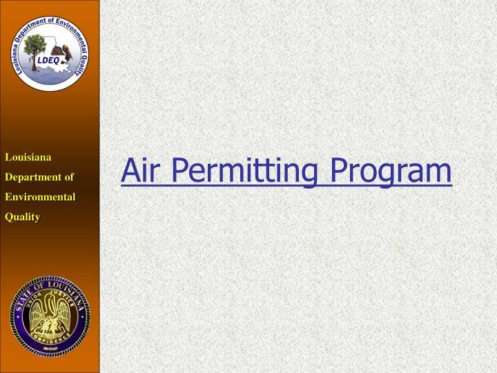 Air Permitting Program