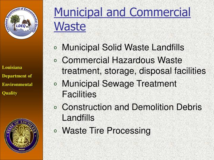 Municipal and Commercial Waste