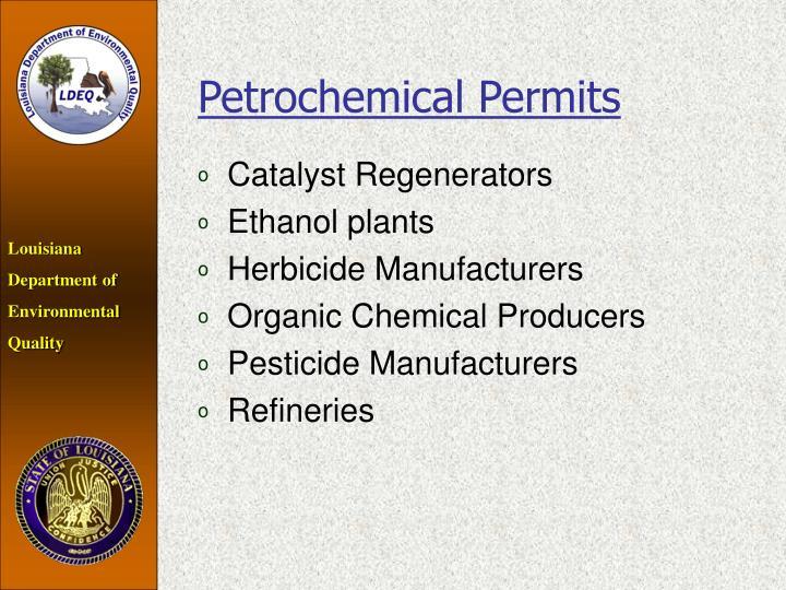 Petrochemical Permits