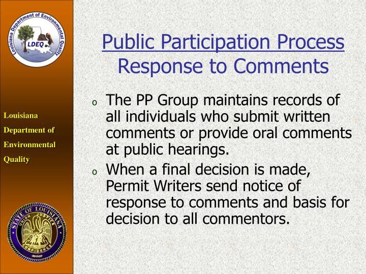 Public Participation Process