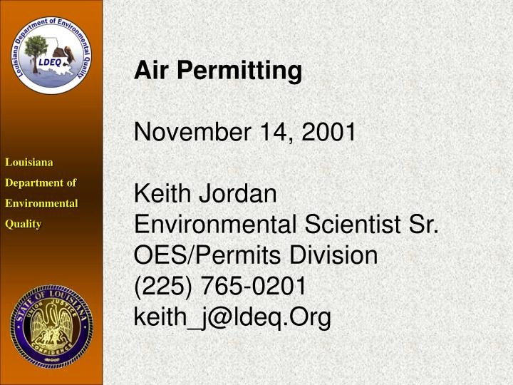 Air Permitting