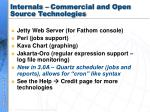 internals commercial and open source technologies