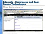 internals commercial and open source technologies19