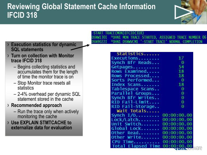 Reviewing Global Statement Cache Information
