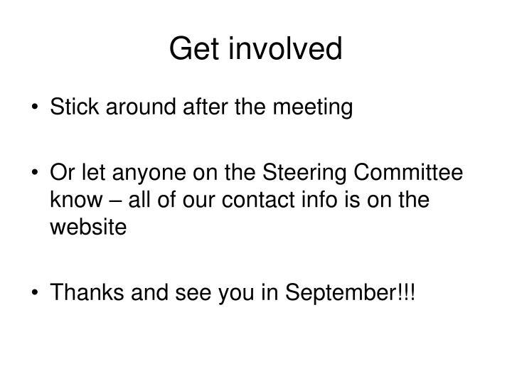 Get involved