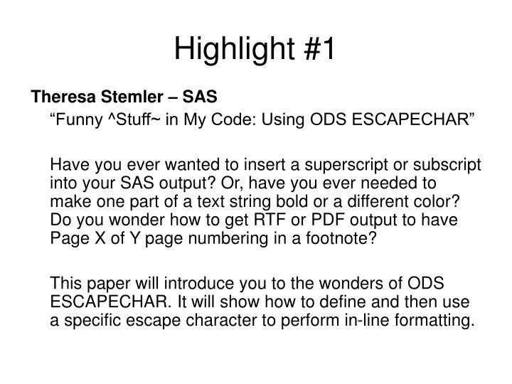 Theresa Stemler – SAS