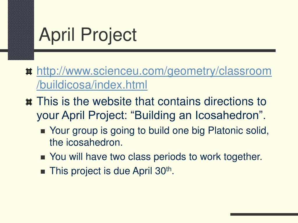 April Project