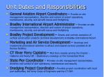 unit duties and responsibilities1