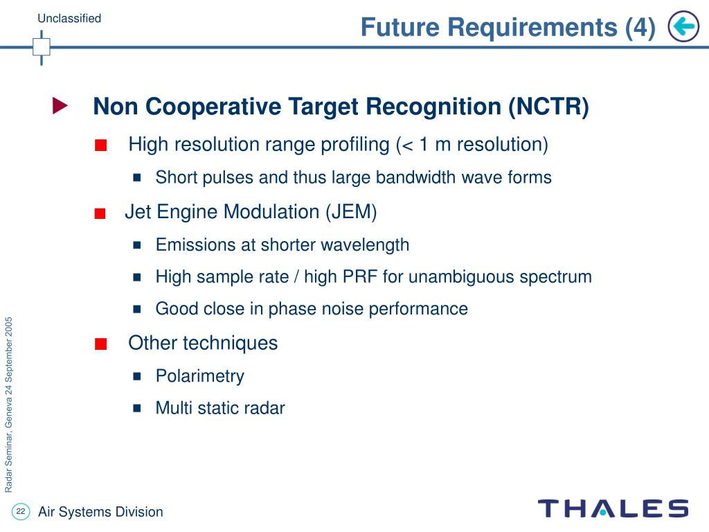 Future Requirements (4)