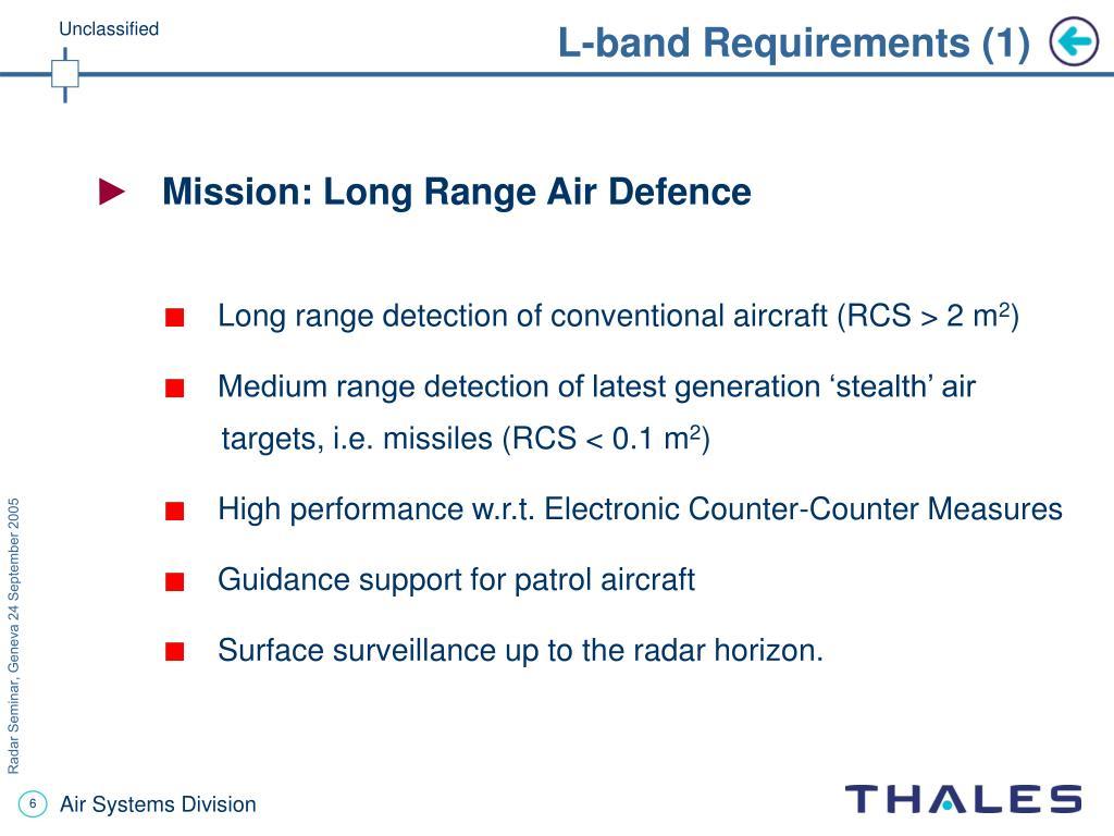 L-band Requirements (1)