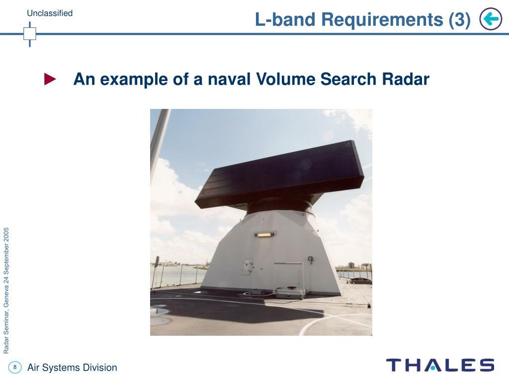 L-band Requirements (3)