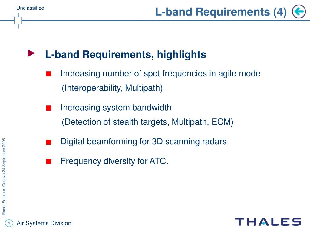 L-band Requirements (4)