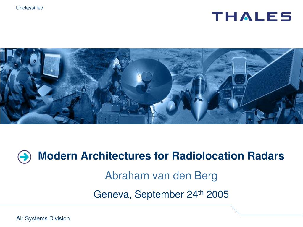 Modern Architectures for Radiolocation Radars