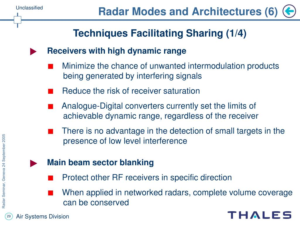 Radar Modes and Architectures (6)