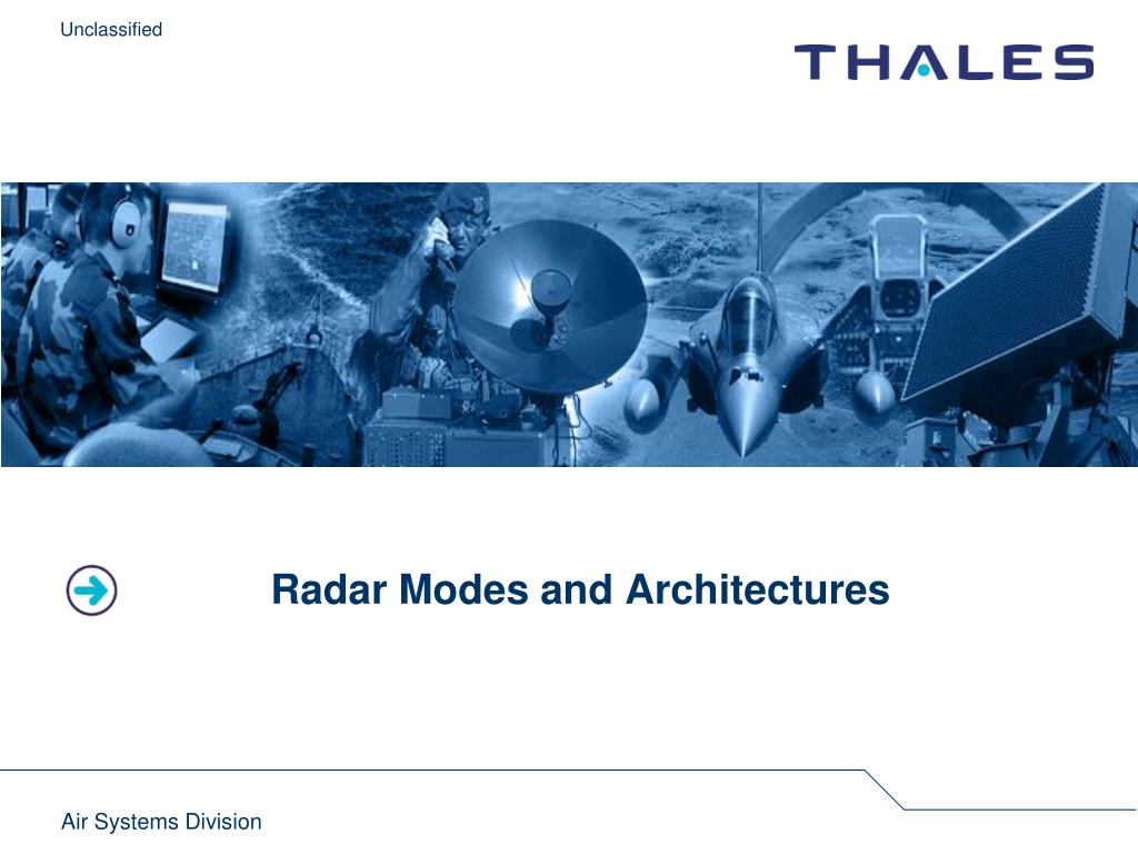 Radar Modes and Architectures