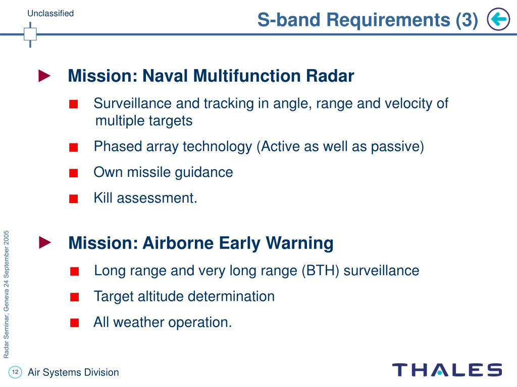 S-band Requirements (3)