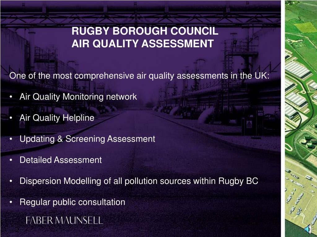 One of the most comprehensive air quality assessments in the UK: