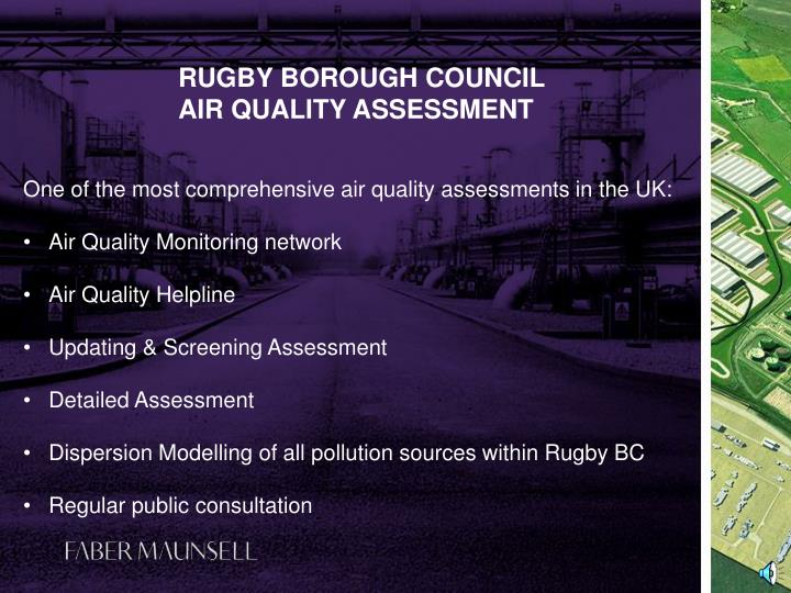 Rugby borough council air quality assessment