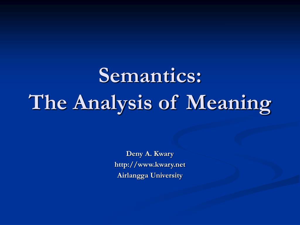 Semantics: