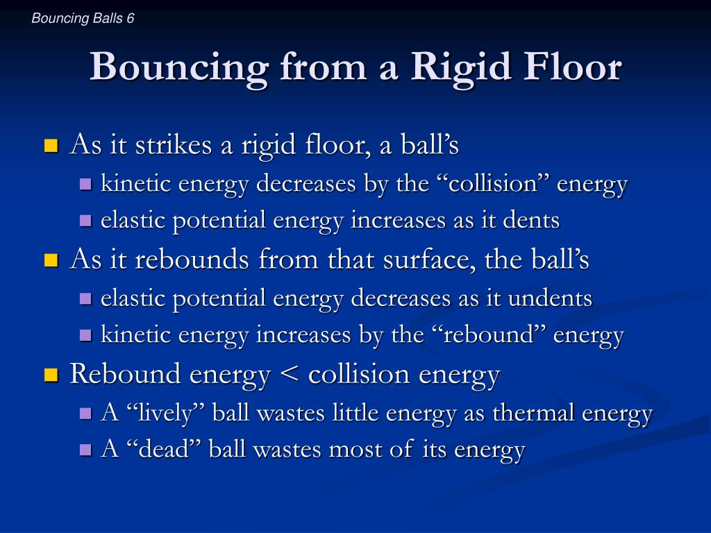 Bouncing from a Rigid Floor