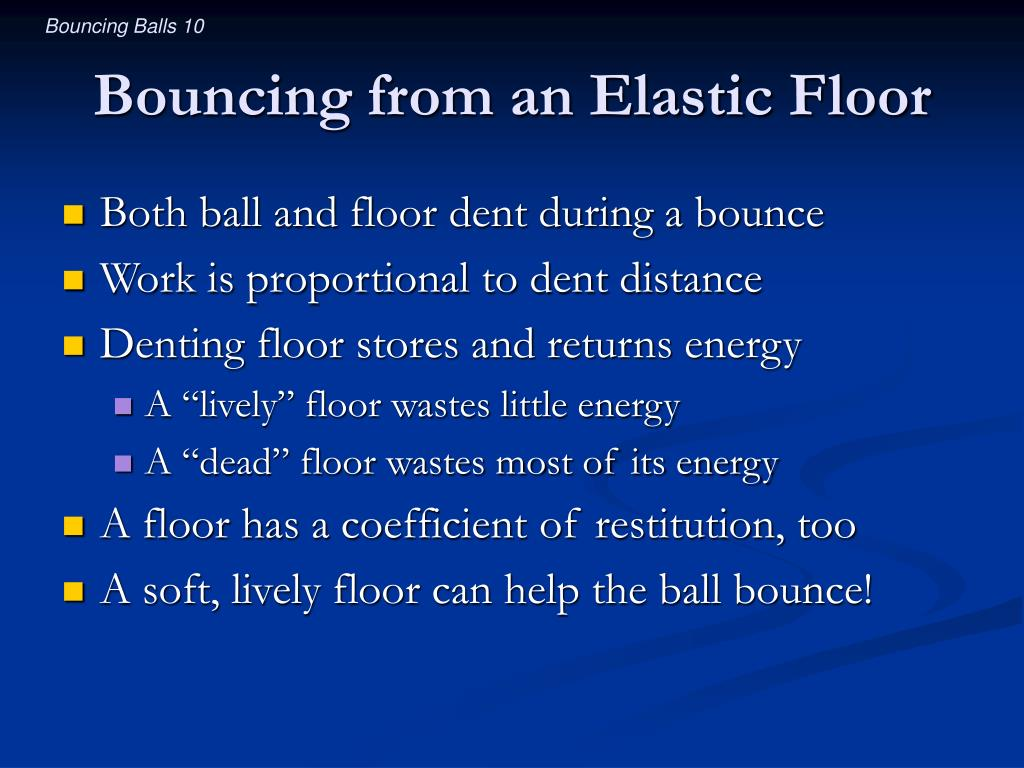 Bouncing from an Elastic Floor