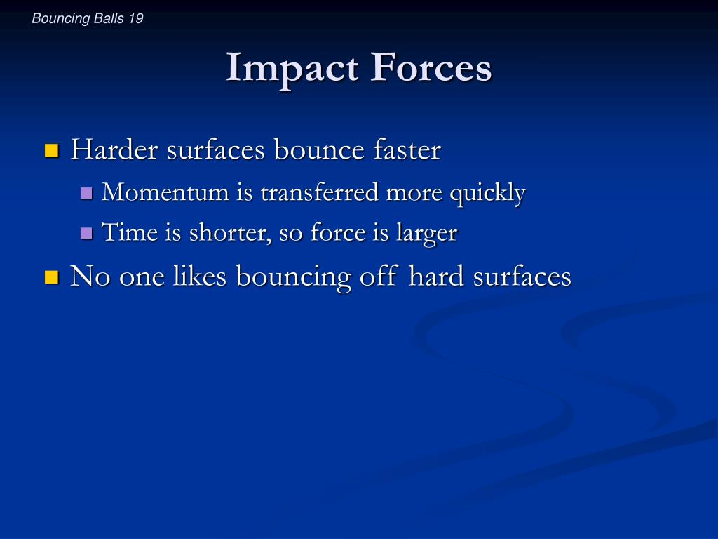 Impact Forces