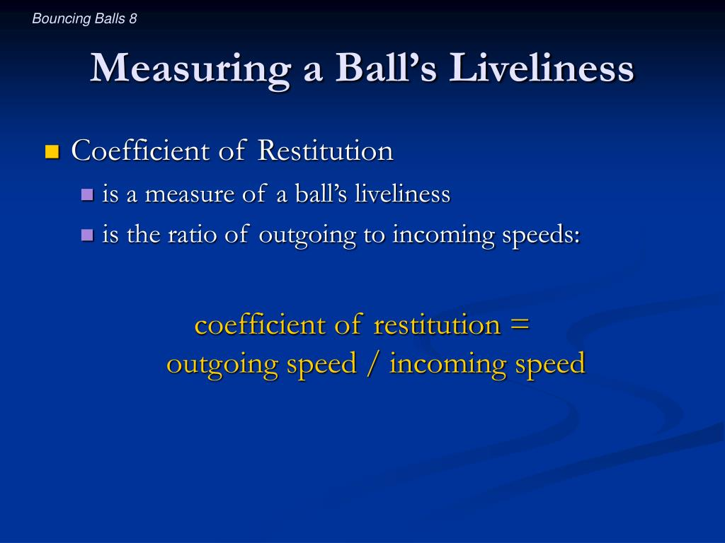 Measuring a Ball's Liveliness